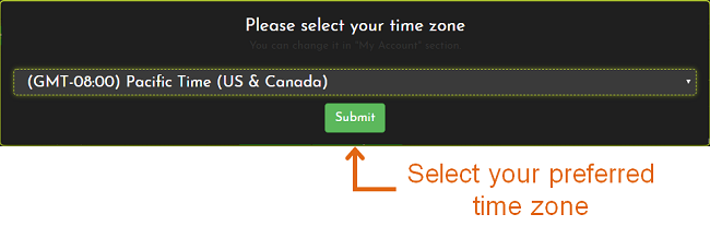 FrugalTesting timezone feature